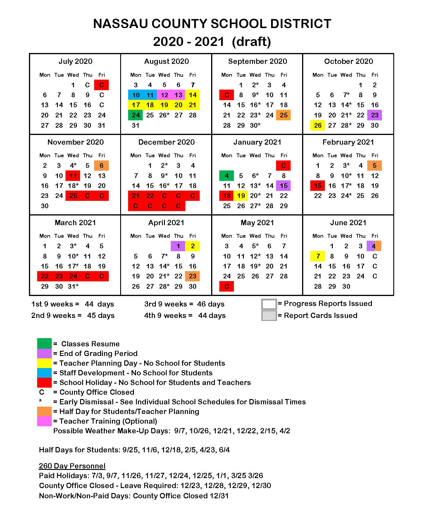 Florida Public School Calendars   All Districts Start Dates and