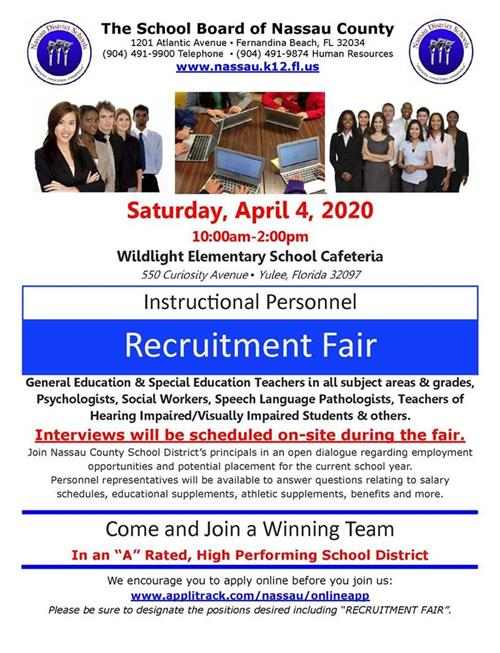 Instructional Personnel Recruitment Fair