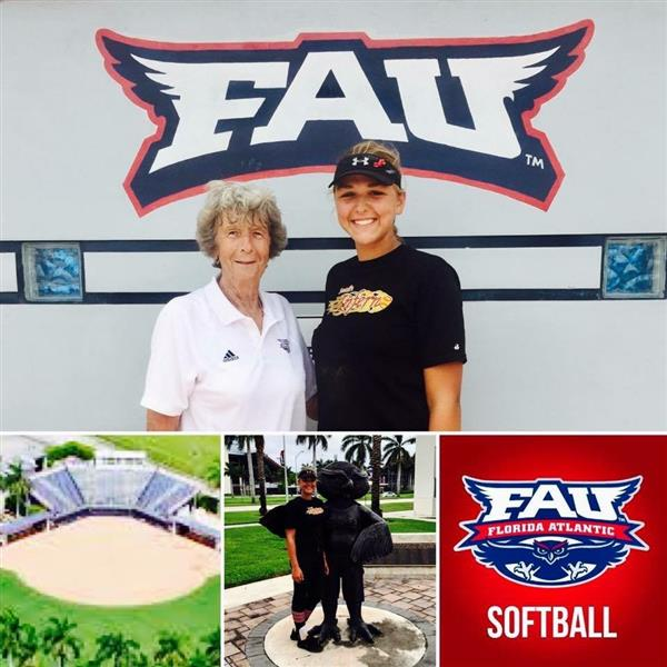 Congrats to Skylar Whitty for committing to FAU to play softball!