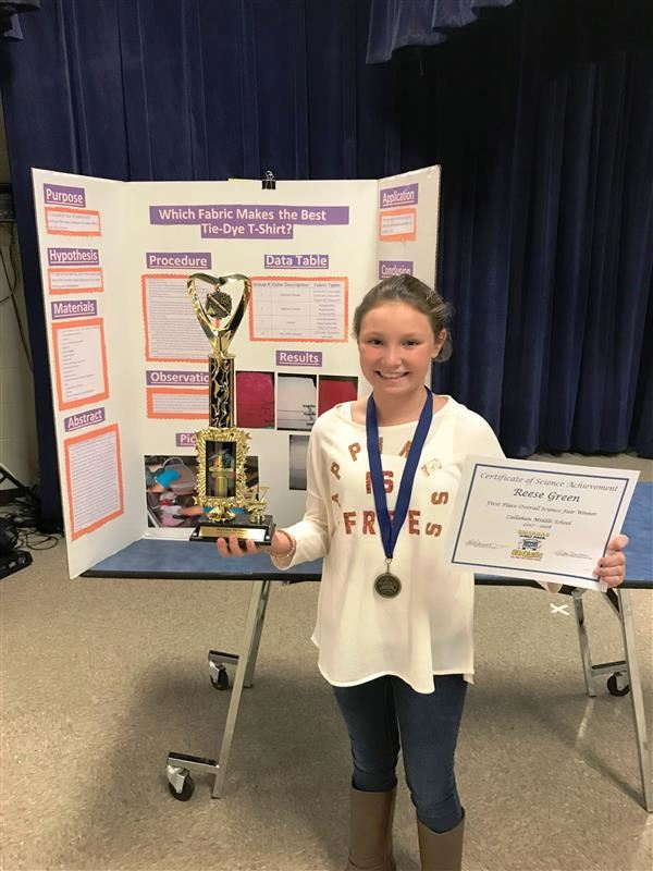 Congratulations to our 2017 Overall Science Fair Winner!