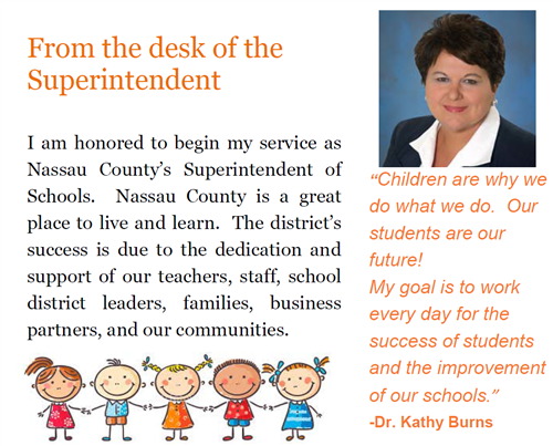 From the desk of the Superintendent