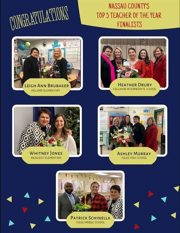 Nassau County Top 5 Teacher of the Year Finalists