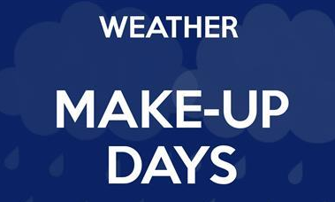 Updates Regarding Weather Makeup Days